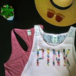 VS Pink Tank Top Bundle (2 pc.)